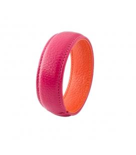 Bracelet manchette en cuir bicolore SYLVIE