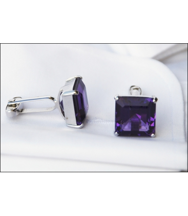 Cufflinks CRYSTAL VIOLET