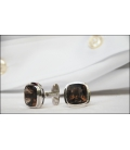 Cufflinks XAVIER - Smokey Quartz