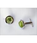 Boutons de manchette MOLIKA - Quartz vert