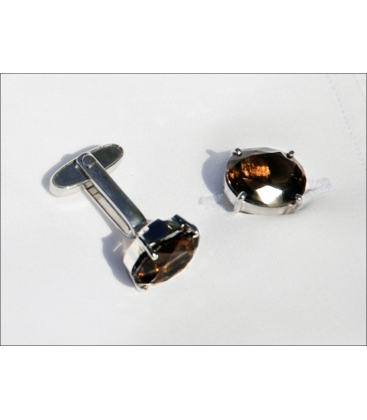 Cufflinks PIERRE - Smokey Quartz