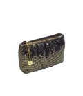 Pleated purse metal mesh GLITTER