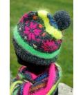 Bonnet tricoté main SNOWFLAKE