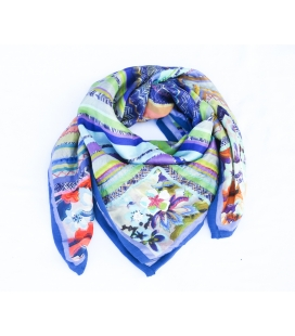 Foulard en soie brodé DOLORES