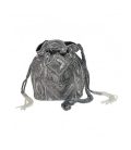 Silver beaded bucket bag BEADS