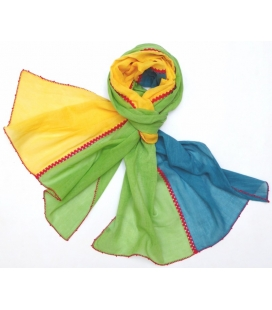 Foulard VOLUBILIS jaune LéO ATLaNTE