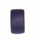 Bracelet manchette en cuir violet SYLVIE gm