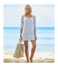 Jute Beach Bag beige and white ARUBA