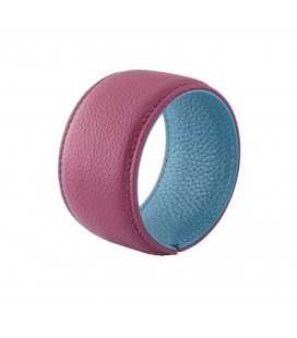 Cuff bracelet in leather SYLVIE