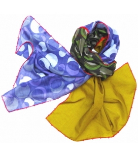 FOULARD LéO ATLANTE LIME & BLUE