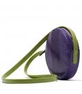 Snakeskin violet handbag ANGELA