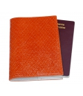 PORTE PASSEPORT cuir orange
