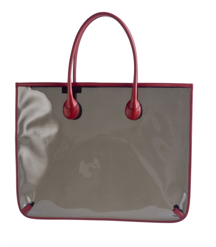Large Tote Bag In Leather Amp Vinyl Goya